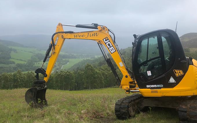 Wee jim landscapes with Excavator at United Kingdom