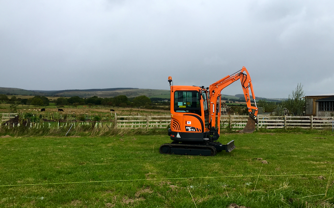Christmas farm  with Mini digger at Longframlington