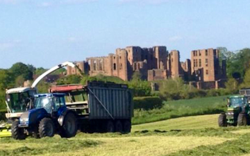 D sansome & son with Forage harvester at Kenilworth