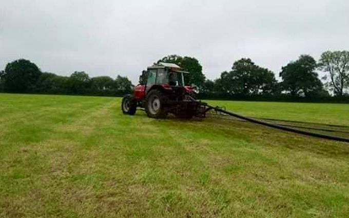 Jds agricultural contracting with Slurry spreader/injector at United Kingdom