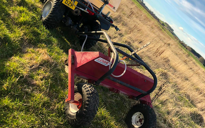 Ksm land services with ATV sprayer at Inverurie