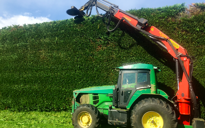 Mcgregor shelter trimmers with Hedge cutter/mulcher at Te Puna