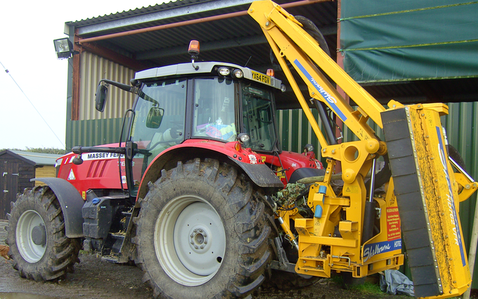 Wilson authorpe with Hedge cutter at Authorpe