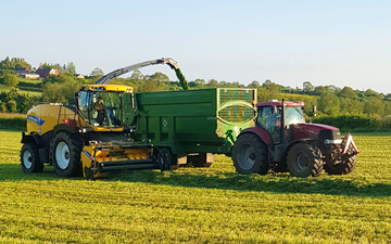 Abh agri with Forage harvester at Wymeswold