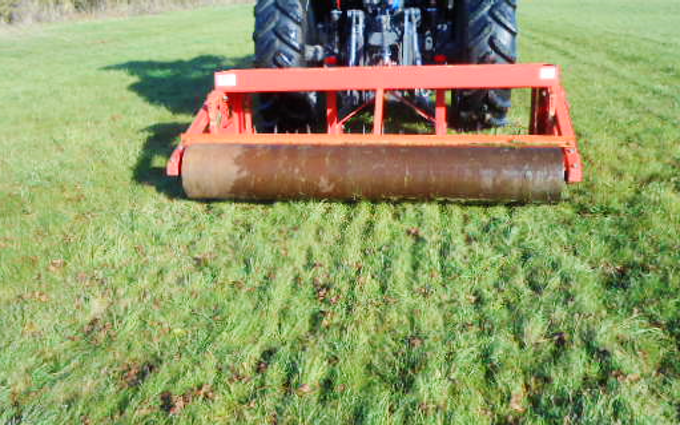 Specfarm solutions ltd with Meadow aerator at Crowle