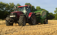 Page bros with Round baler at Elkington