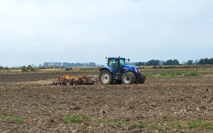 Mckenzie brooker contracting  with Disc harrow at Oxford