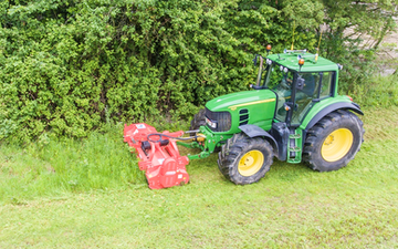Sw machinery hire ltd with Verge/flail Mower at Lacock, Chippenham