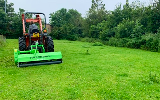 Sas land services  with Verge/flail Mower at Winkfield Row