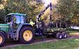Brookshill farming with Forwarder at Culmstock