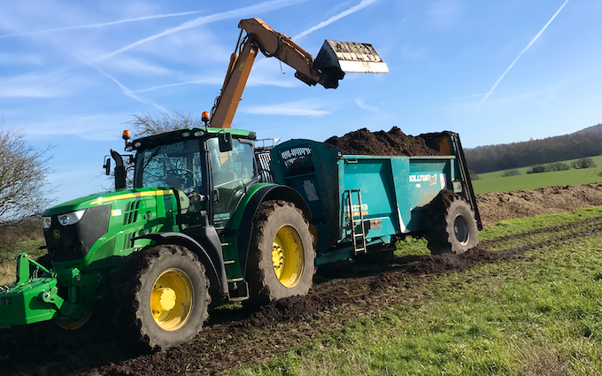 Aeh services with Manure/waste spreader at Reading Road