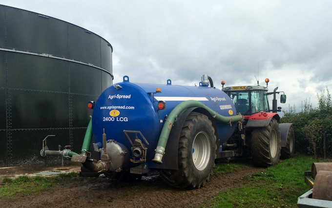 Tom bardwell contracting  with Slurry spreader/injector at Weston-super-Mare