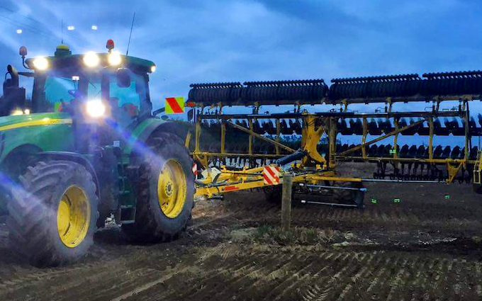 Tepirita enterprises ltd with Disc harrow at Bankside