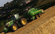 Wildwoods contractors with Large square baler at United Kingdom