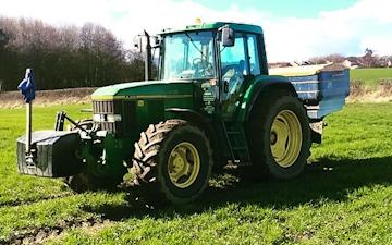 Smith agri with Fertiliser application at Edmondsley