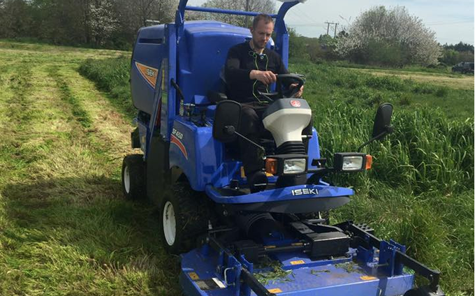 Pg groundcare ltd with Mower at Hollybank