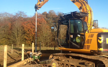J. steel contracting  with Fencing at Cauldhame Farm Road