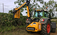 Hix & sons  with Hedge cutter at Castle Bytham