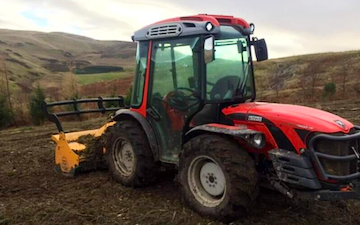 Ksm land services with Mulcher at Inverurie