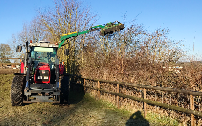 J.p services  with Hedge cutter at Groby Road