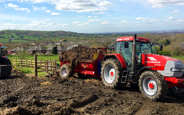 Anthony agricultural  with Manure/waste spreader at Hazel Grove