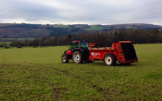 D.j. & a.e. williams machinery services with Manure/waste spreader at United Kingdom