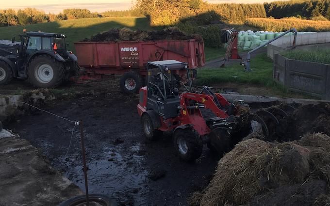 Brunbjerg agro med Minilæsser ved Gilleleje