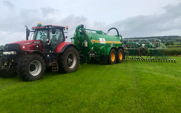 Hooftrimming ltd with Slurry spreader/injector at United Kingdom
