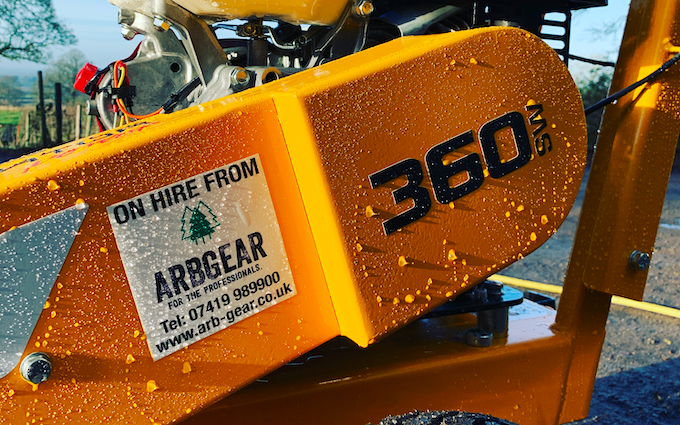 Arbgear ltd with Grinder at Cookhill