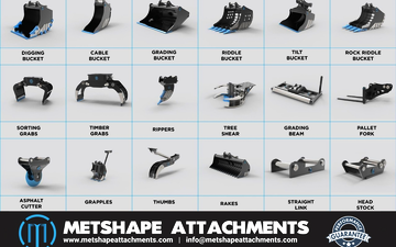 Metshape attachments with Excavator at Ajman