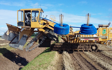 William morfoot ltd with Drainage Trencher at Shipdham