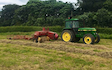 Beckfield estates  with Small square baler at Kilburn