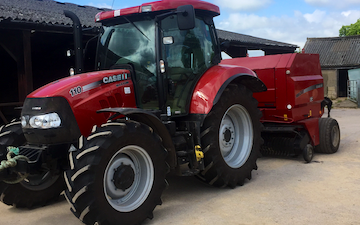 Jj & mb contracting with Round baler at Westerleigh