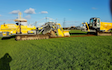 Sellers plant and yorkshire land drainage ltd with Drainage Trencher at Stamford Bridge
