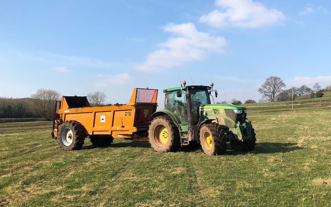 Tom bardwell contracting  with Forage harvester at Weston-super-Mare