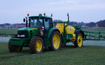 Robert carswell and sons with Trailed sprayer at United Kingdom