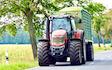 Lohnunternehmen ronny birnbaum mit Abfahrwagen bei Herzberg (Elster)