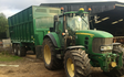 Tom renshaw agricultural contractor  with Silage/grain trailer at Ashover