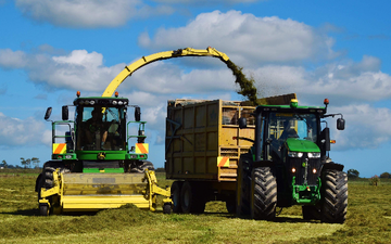 Guthrie agwork ltd with Forage harvester at Tokomaru