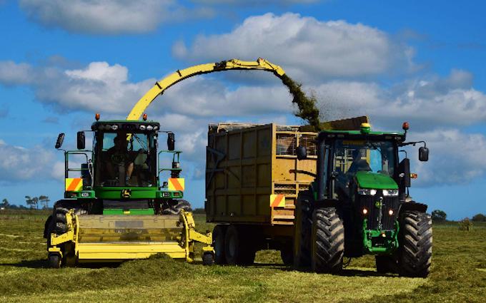 Guthrie agwork ltd with Forage harvester at Tokomaru