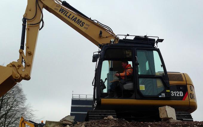 Williams plant dorset ltd with Excavator at Hawthorn Avenue