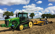 Haydn wesley & son ltd with Stubble cultivator at Millthorpe Drove