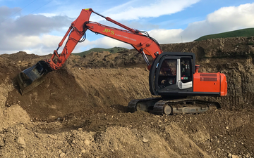 Jps earthmoving ltd with Excavator at Carterton
