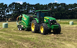Guthrie agwork ltd with Baler wrapper combination at Tokomaru