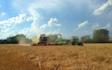 Clarke farms ltd with Combine harvester at Lowdham
