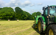J. hawksworth fencing  with Round baler at Luddenden Foot