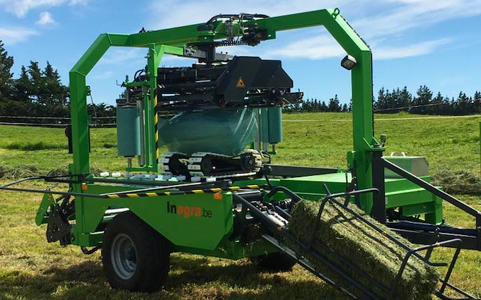 Woudenberg contracting with Wrapper at West Melton
