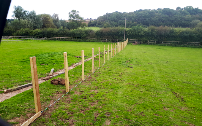 Chris stokes with Fencing at Stansfield