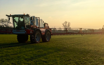 Jw ashmore ltd with Self-propelled sprayer at Enderby