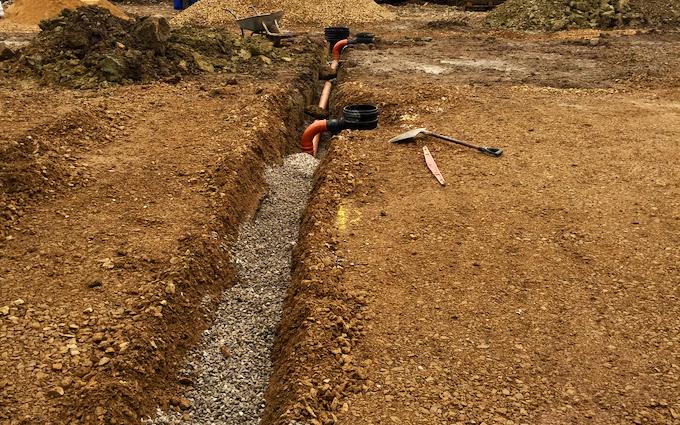 Man-hour contractors  with Excavator at Berkeley